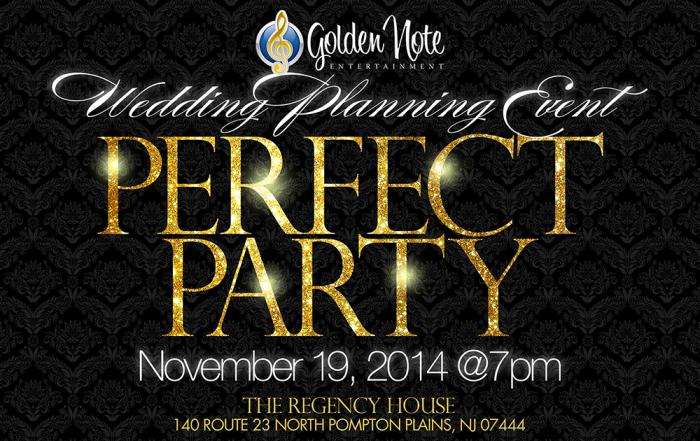November 19   The Perfect Party Event    Regency House – Best Western   Pompton Plains NJ