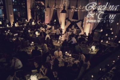 Monogram Projector, Wedding - Battello Jersey City | Golden Note Entertainment - NJ Wedding DJ